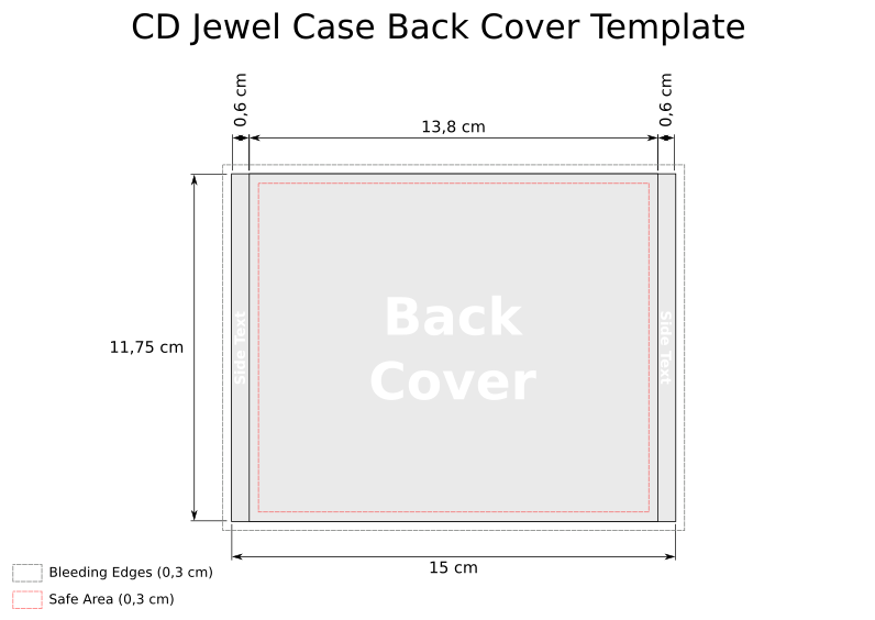 CD Templates for Jewel Case in SVG – Jewel Case Template