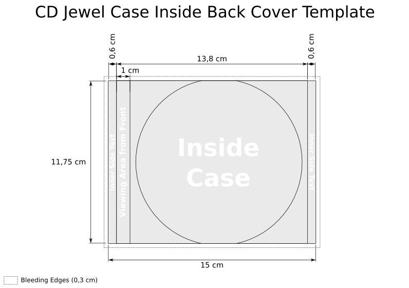 slim jewel case insert template - cd templates for jewel case in svg kevin deldycke