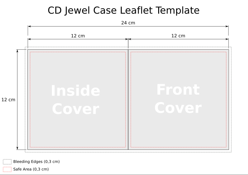cd templates for jewel case in svg