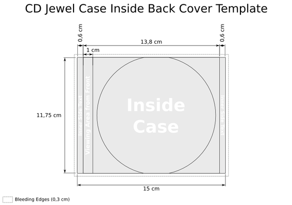 CD Jewel Case Template - Inside Back Cover