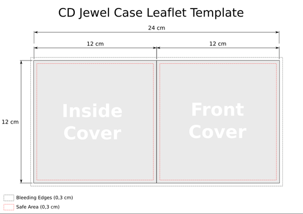 CD Jewel Case Template - Leaflet