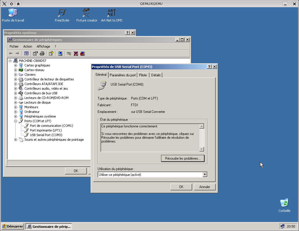 Enttec DMX-USB Firmware Upgrade With Qemu | Kevin Deldycke