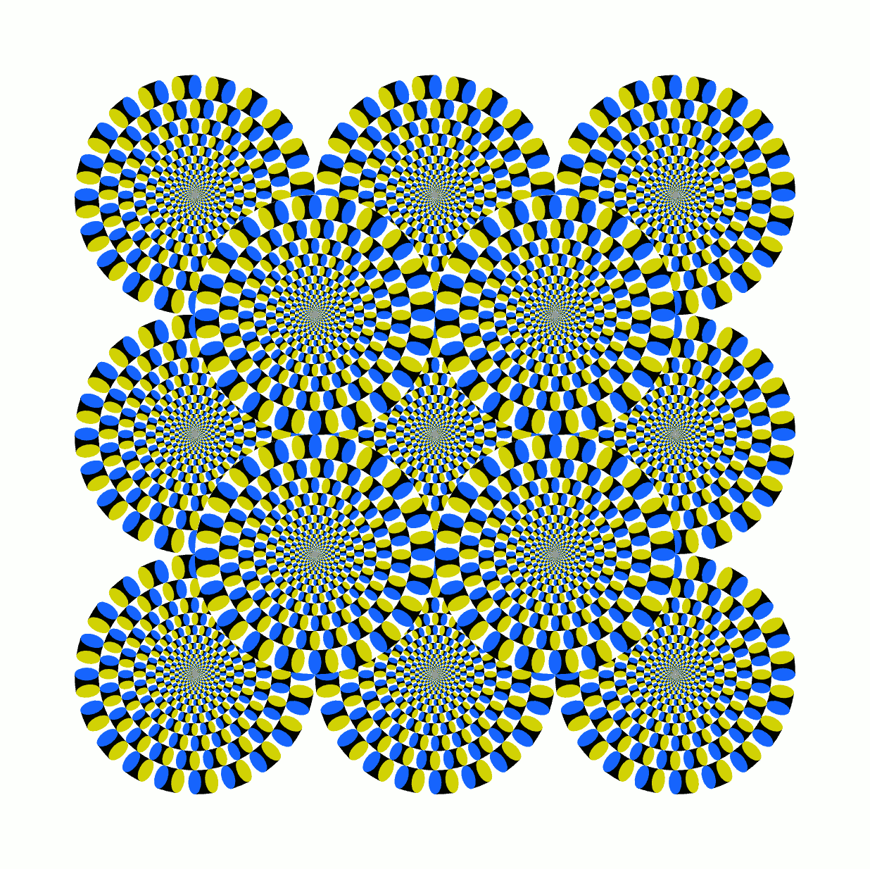 Optical Illusion Circles In Motion Svg Source Included